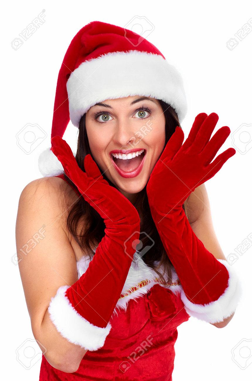 Happy young christmas girl Stock Photo - 16619437