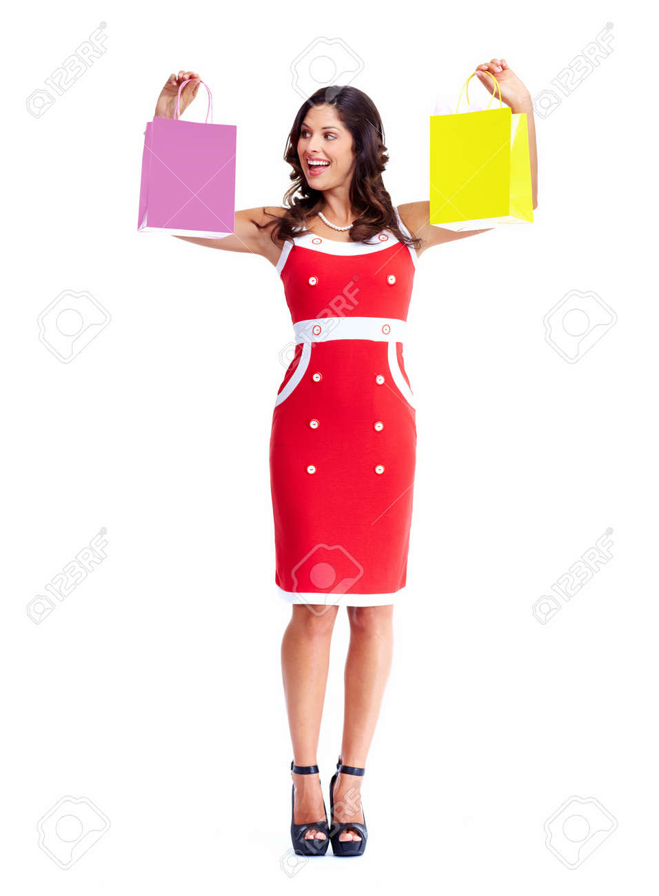 Beautiful woman with a shopping bags Stock Photo - 16758317