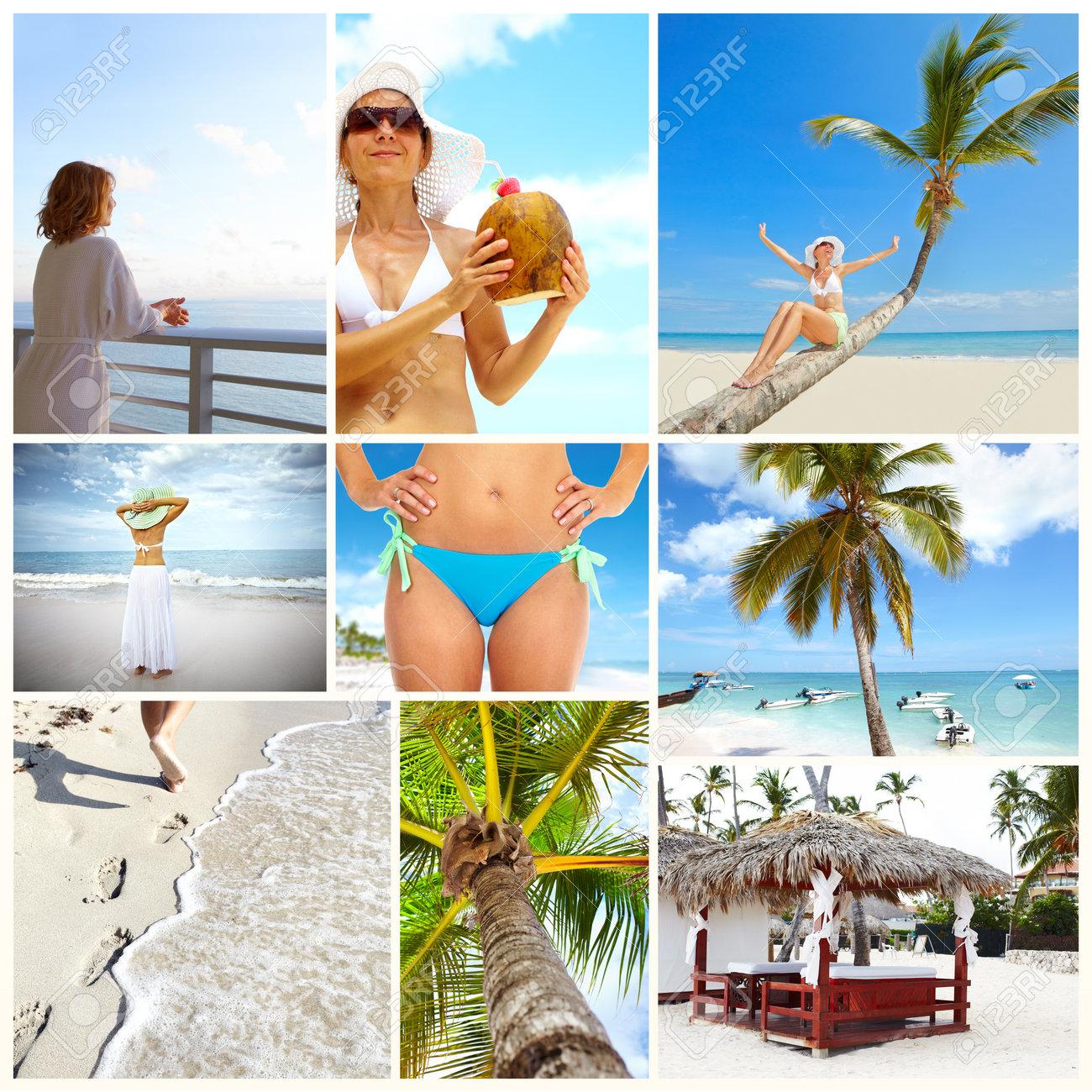 Exotic luxury resort collage Stock Photo - 17245175