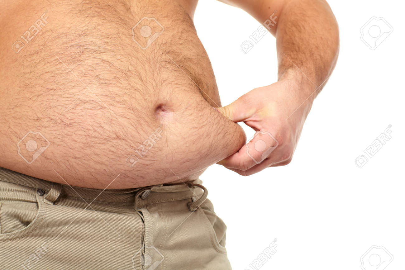 Fat man with a big belly Stock Photo - 17482319
