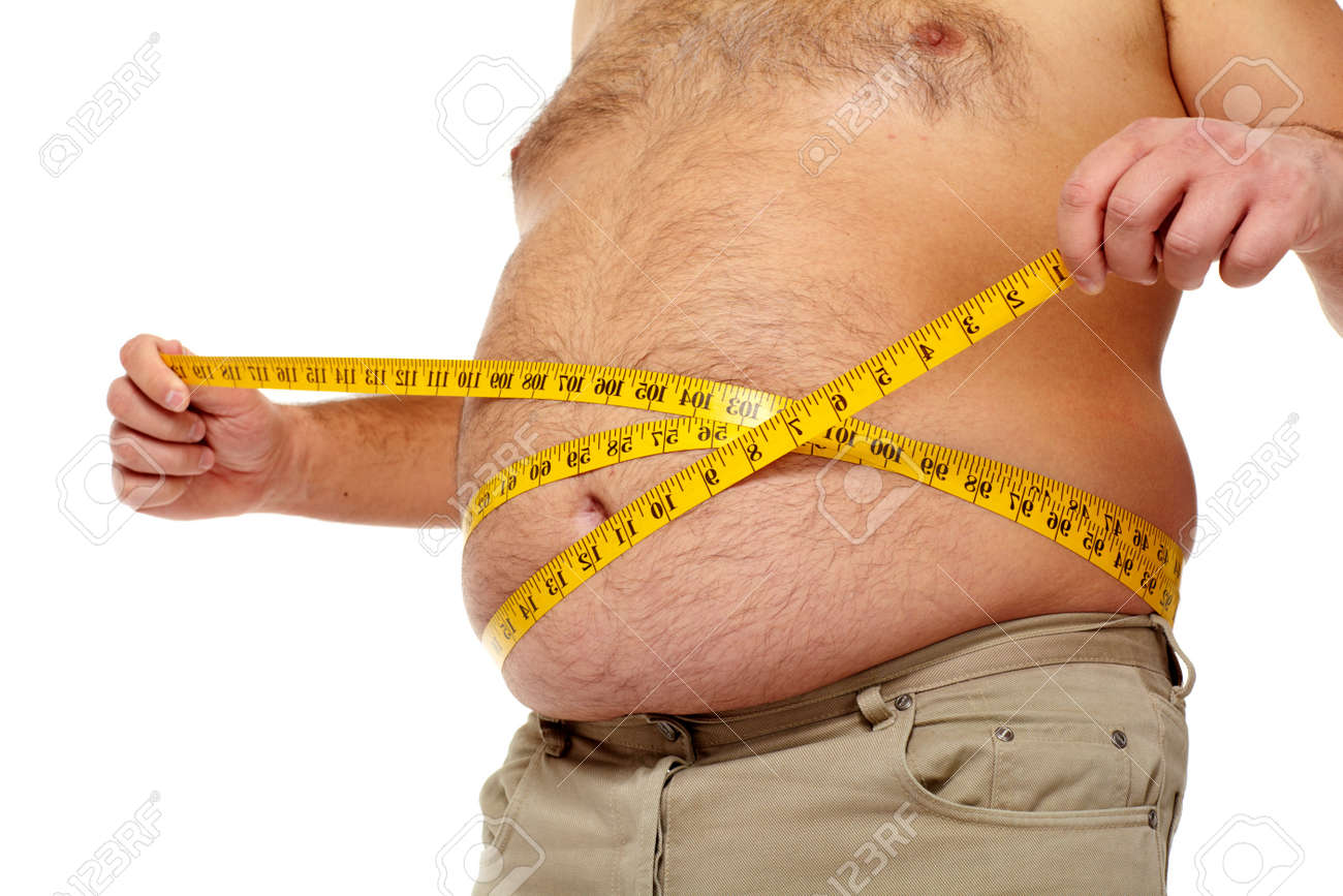 Fat man with a big belly Stock Photo - 17482318