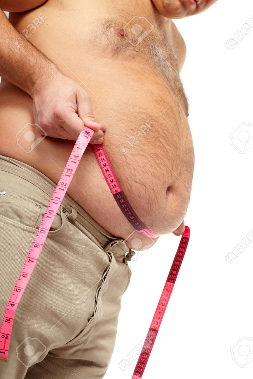 Fat man with a big belly Stock Photo - 17482323