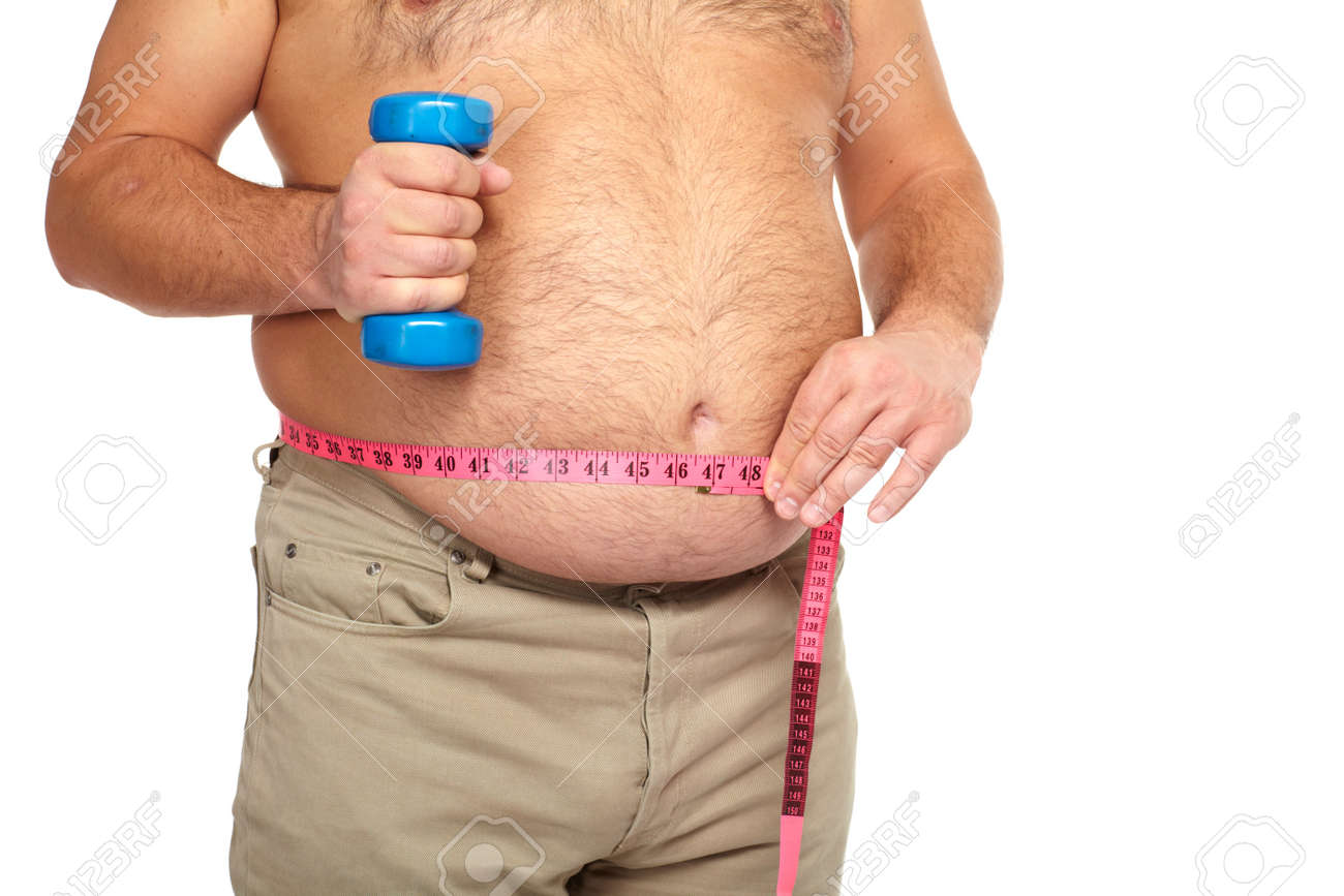 Fat man with a big belly Stock Photo - 17482315