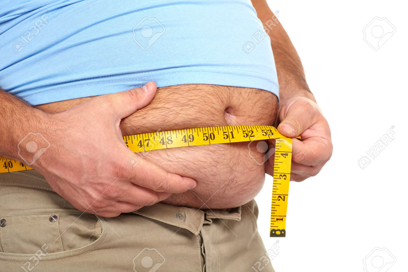 Fat man with a big belly Stock Photo - 17482823