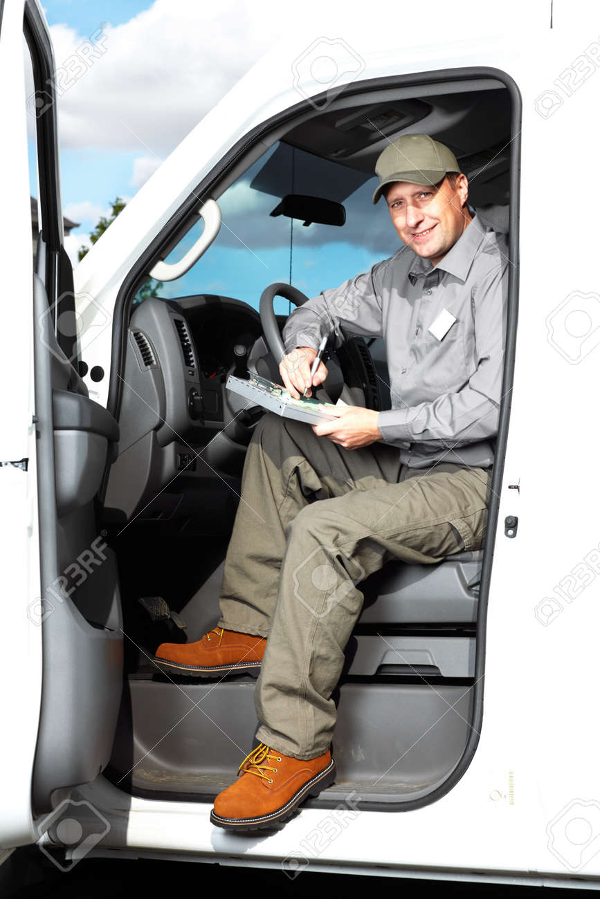 Handsome Truck Driver Stock Photo, Picture And Royalty Free Image ...
