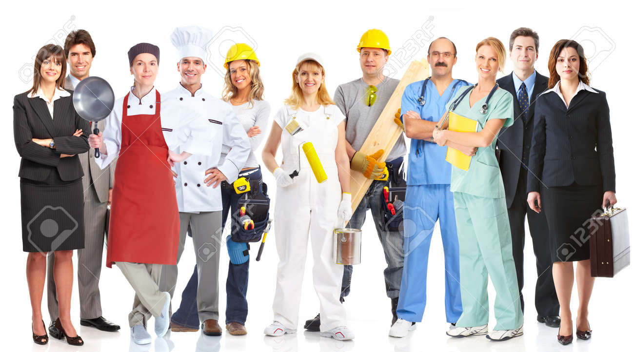 Group of workers people Stock Photo - 17903806