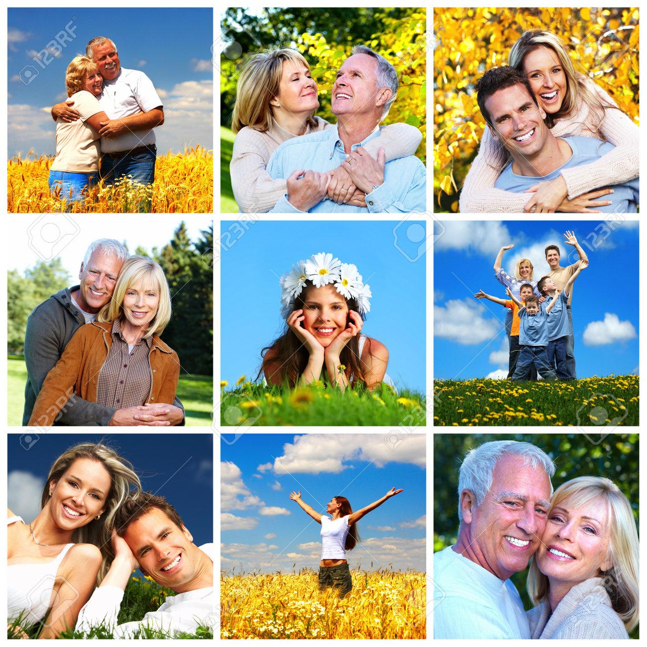 Happy family collage - 19029721