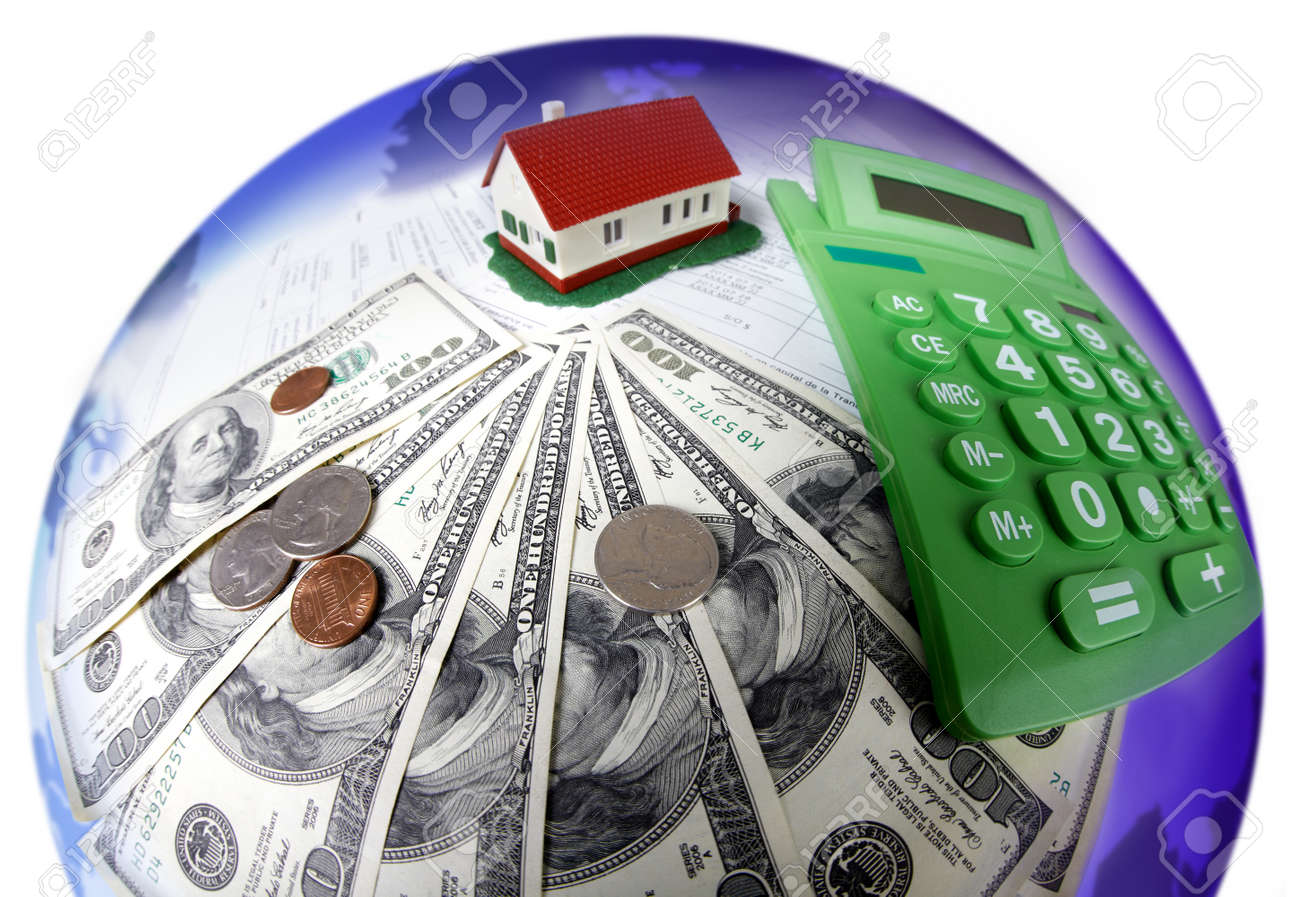 House and calculator. Real estate concept background. Stock Photo - 21757769