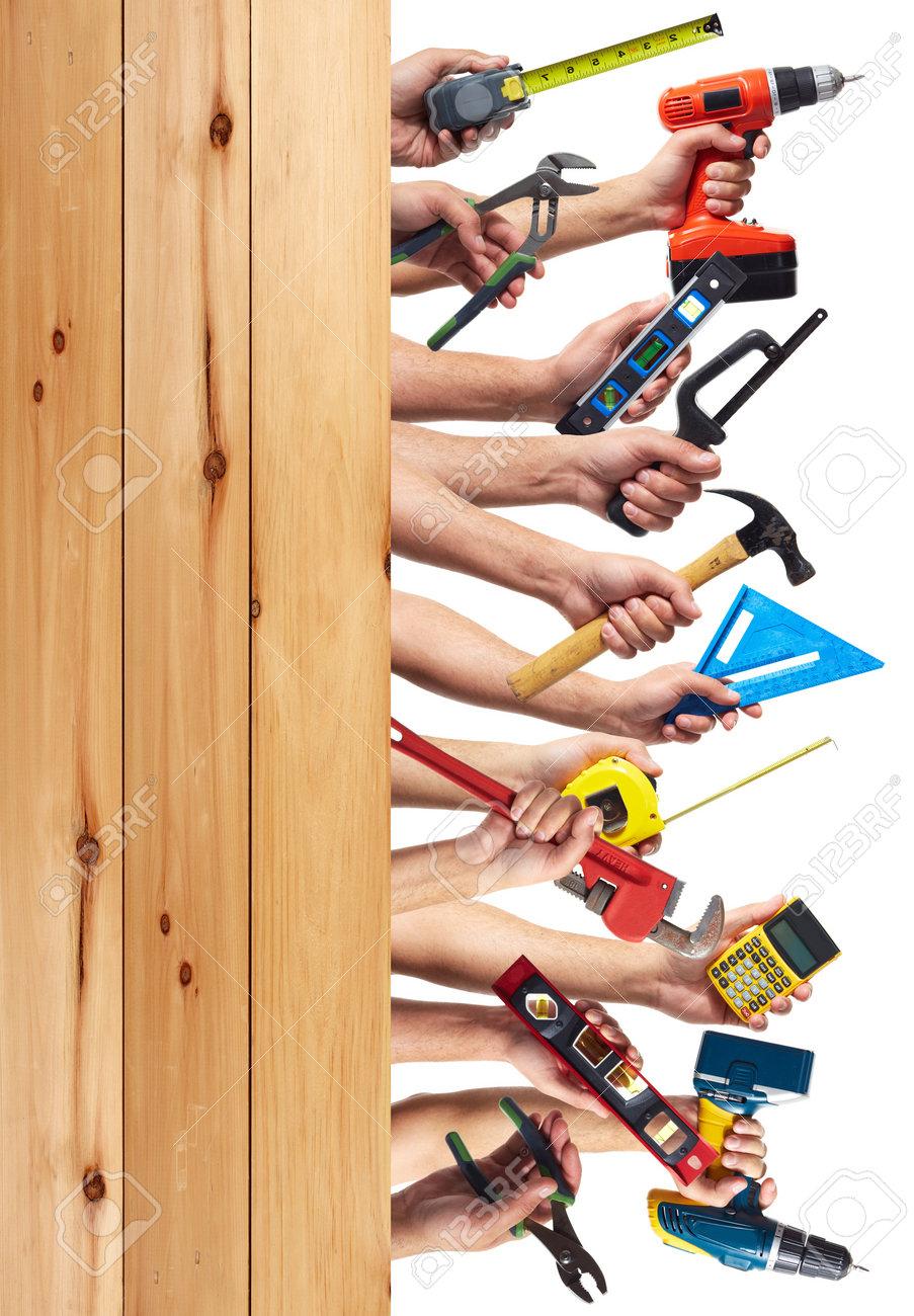 DIY tools set collage. Isolated on white background. Stock Photo - 21882492
