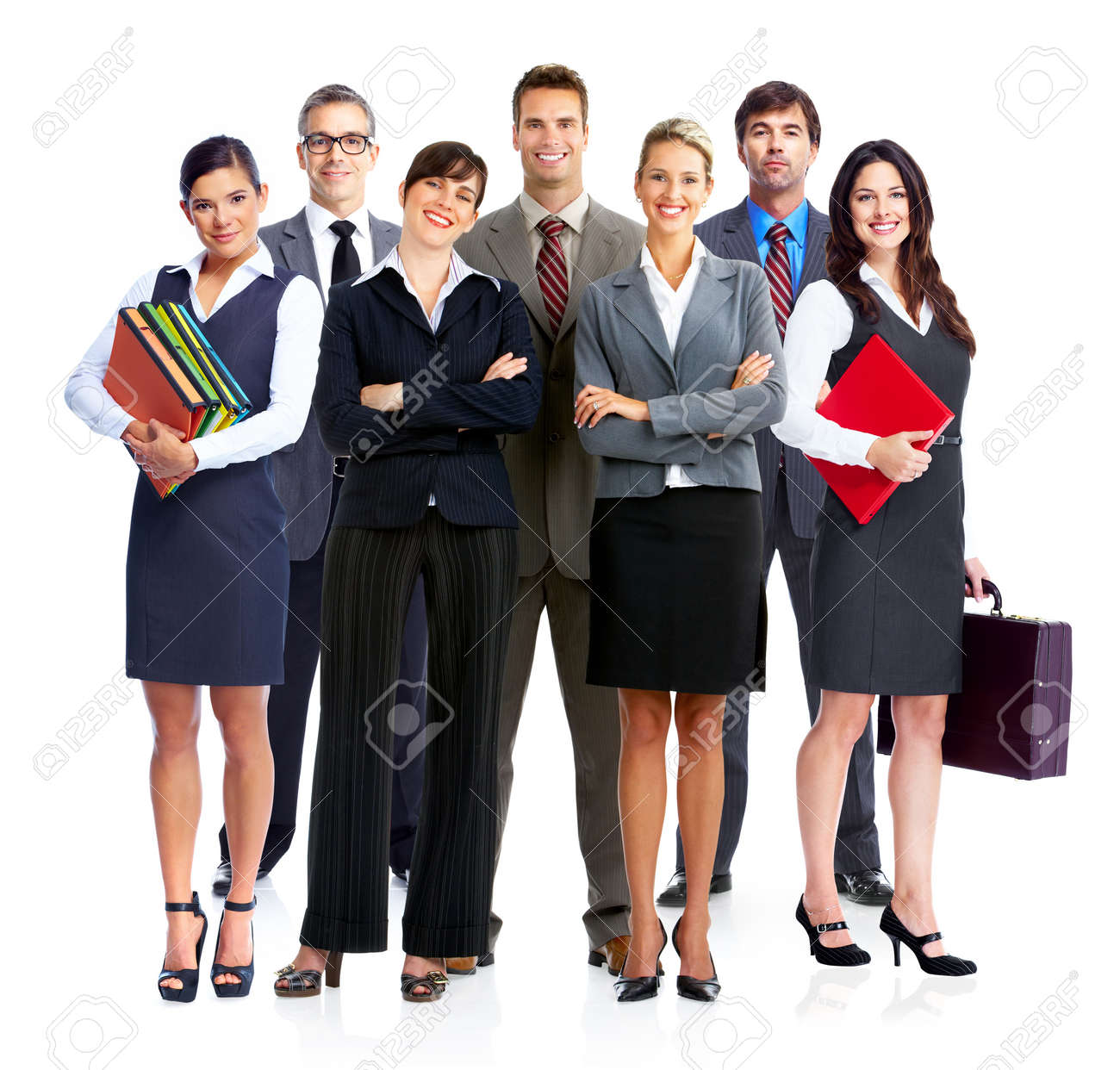 Business people group  Isilated over white backgorund Stock Photo - 23087802