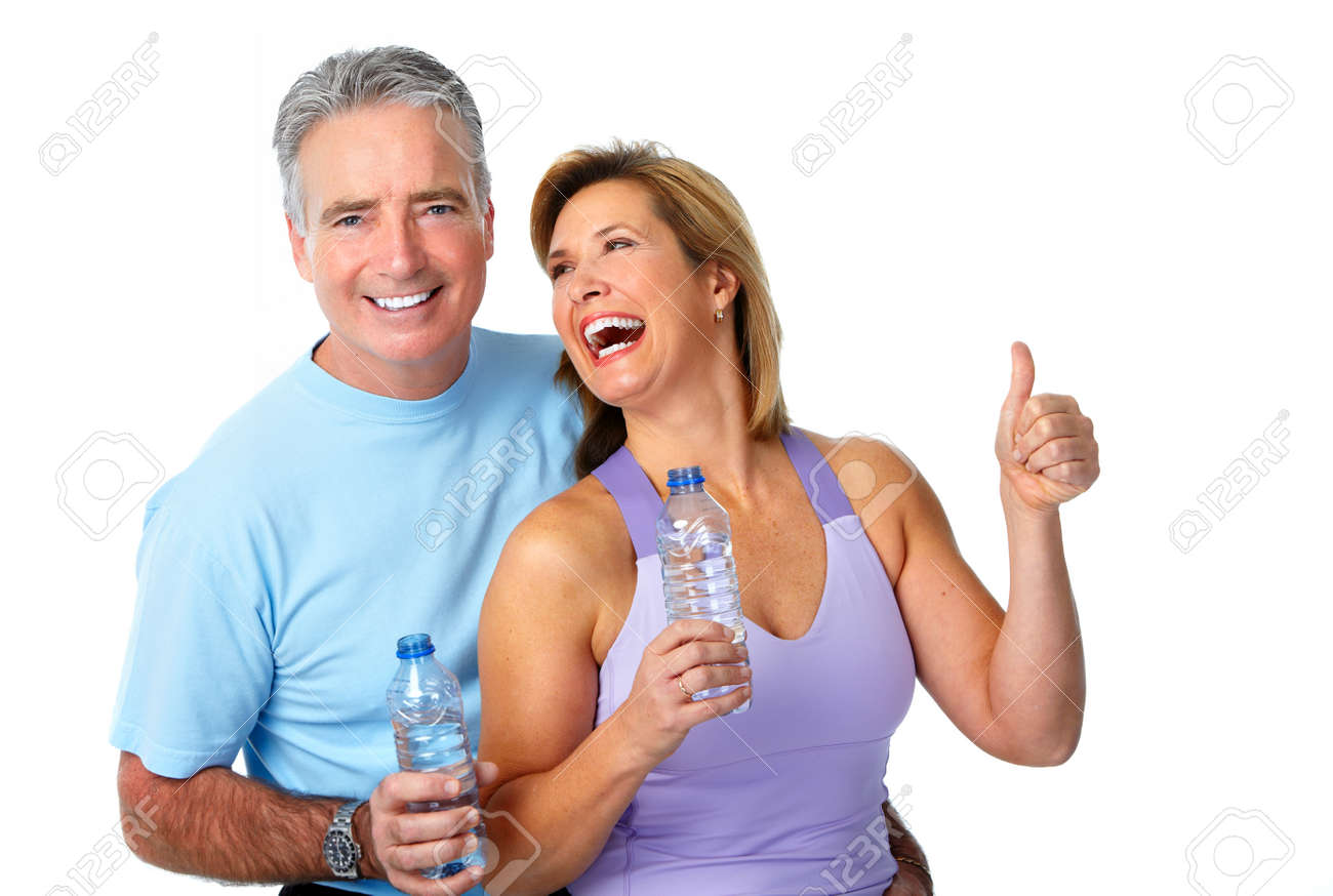 Healthy fitness elderly couple. Sport and exercise concept. - 45281808