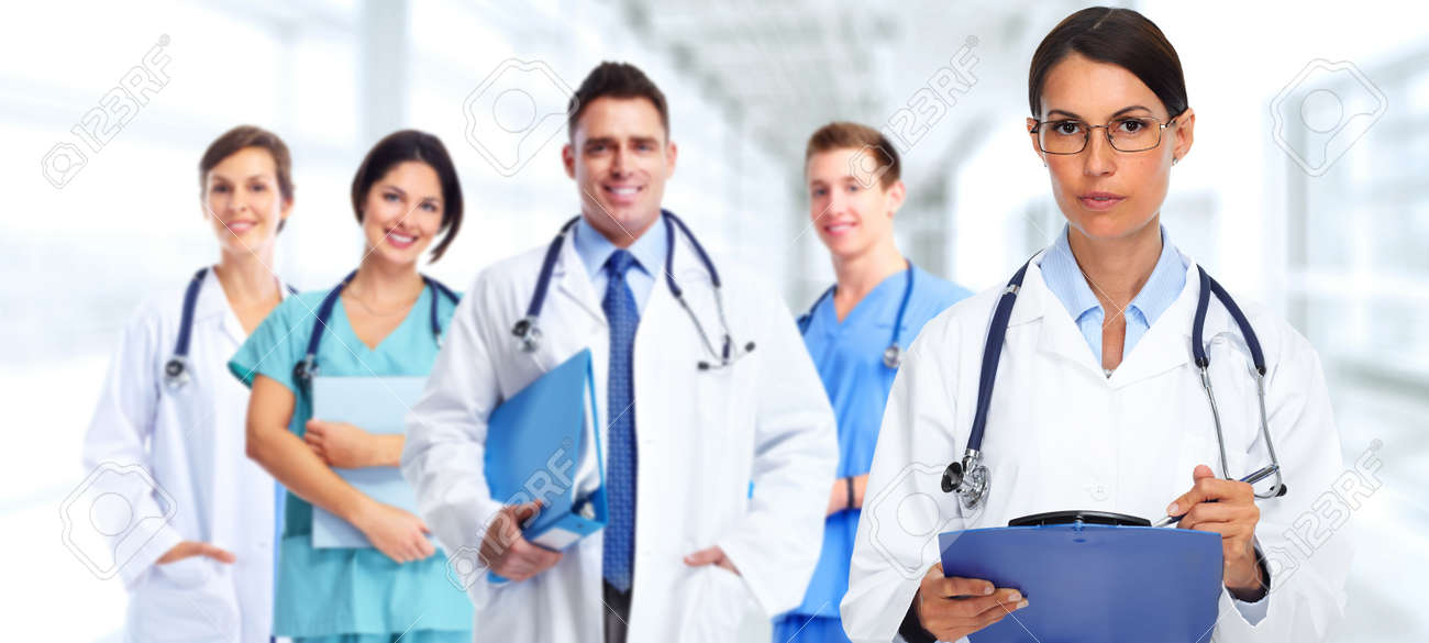 Health Care Banner Background Stock Photo