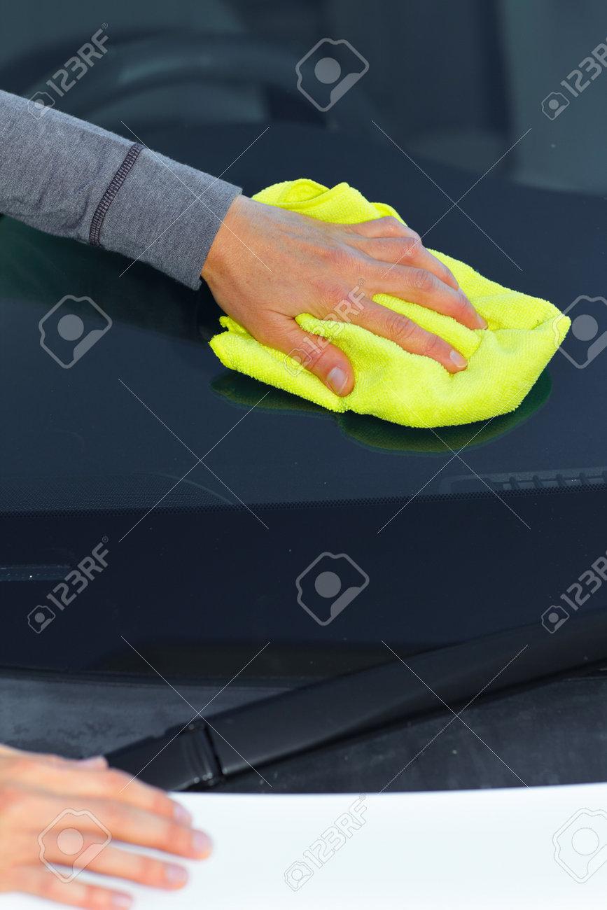 Waxing and polishing