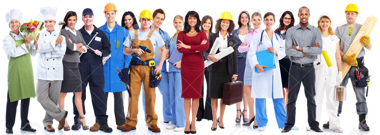 Group of workers people isolated over white background. Standard-Bild - 52885806