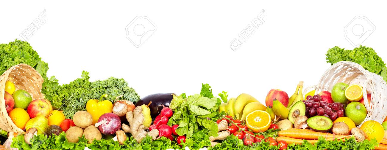f5eead5815dd Verduras frescas y frutas orgánicas. La dieta y el fondo de la salud.