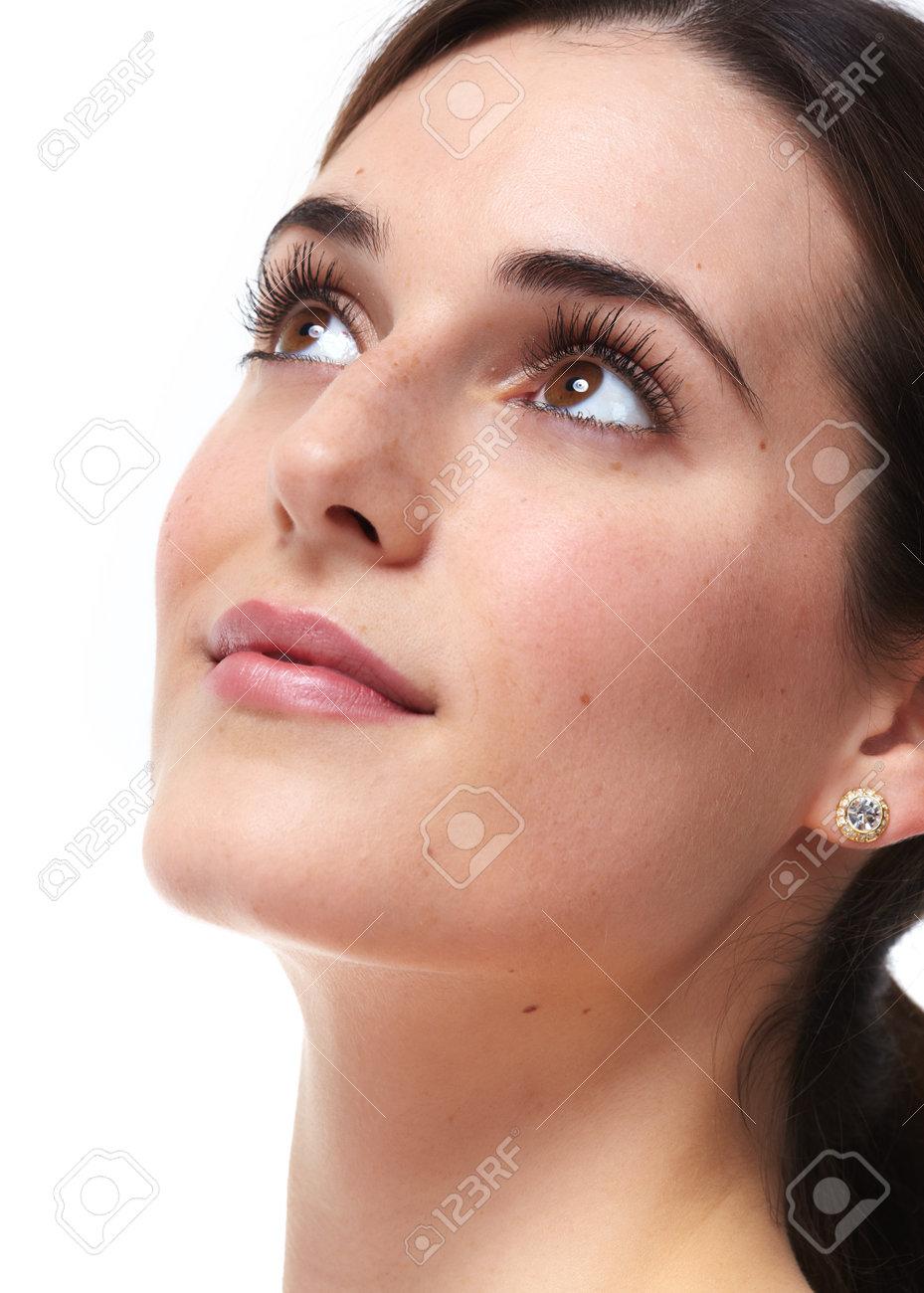 Beautiful young woman close-up. Beauty and skin care. Standard-Bild - 58670995