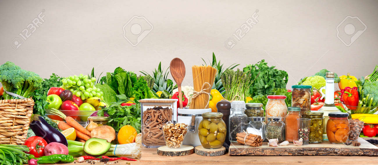Organic vegetables and fruits - 69393287