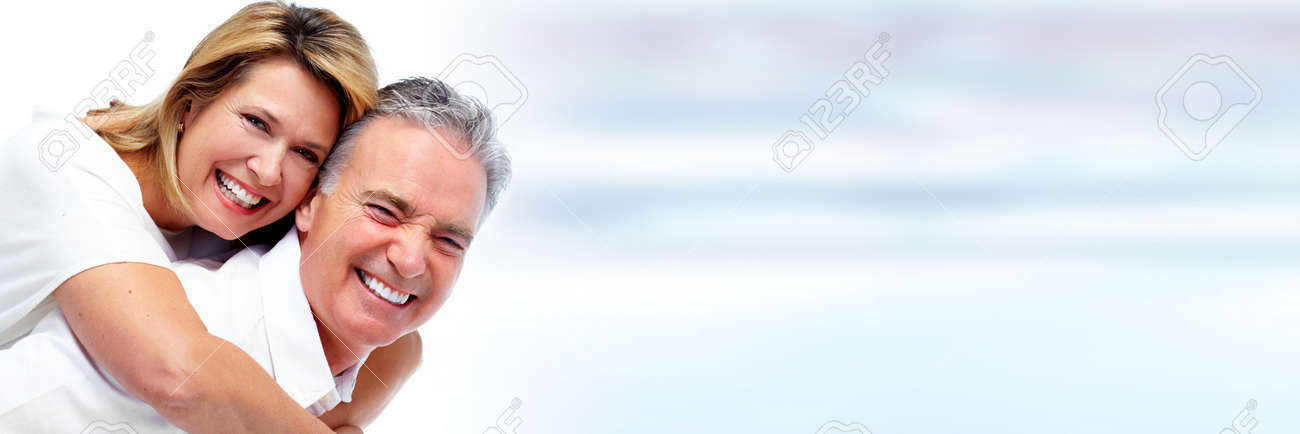 Senior couple smiling. Stock Photo - 74475253