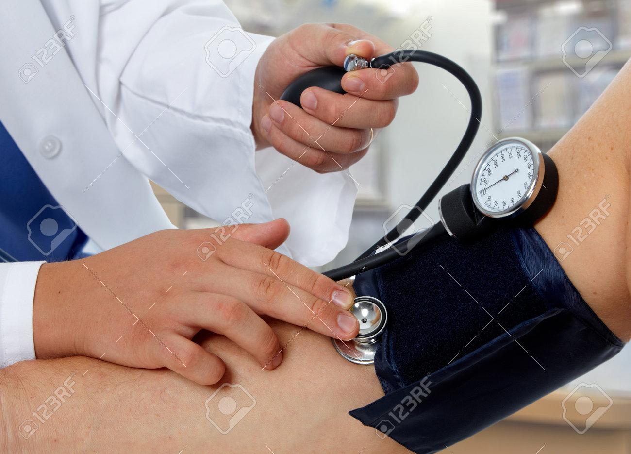 Fotos de medición de la presión arterial