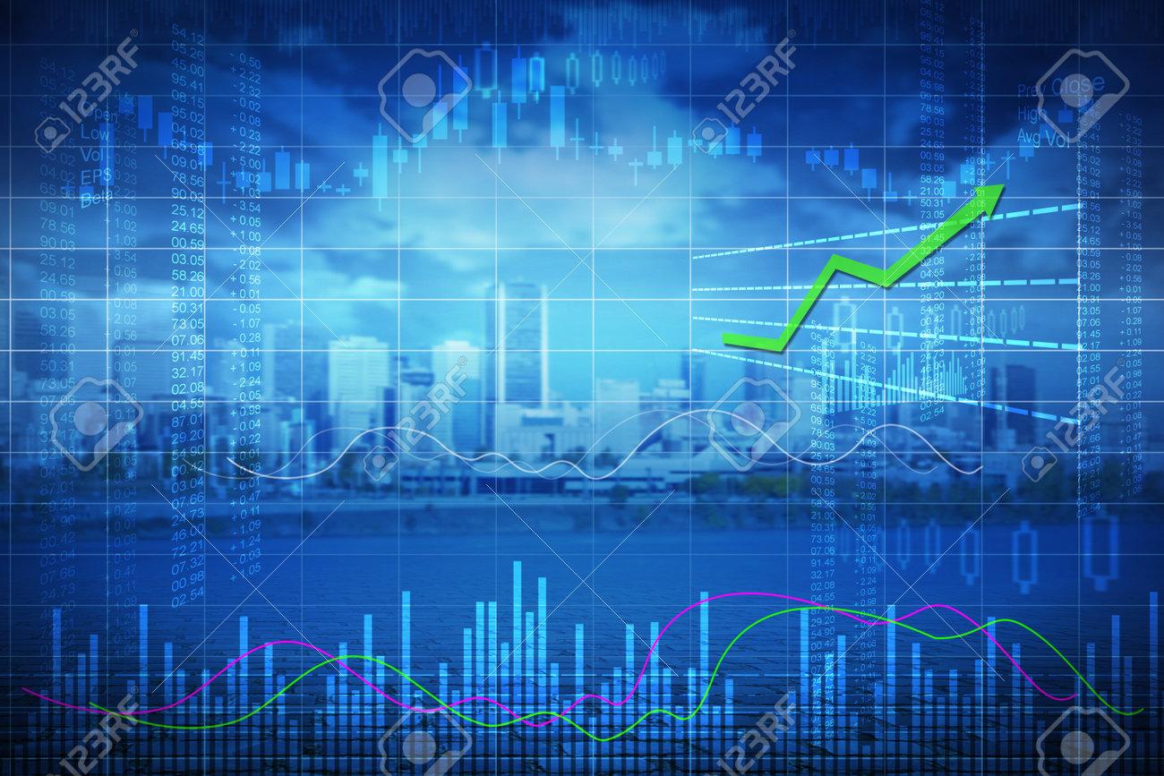 Business stock market background - 84778782