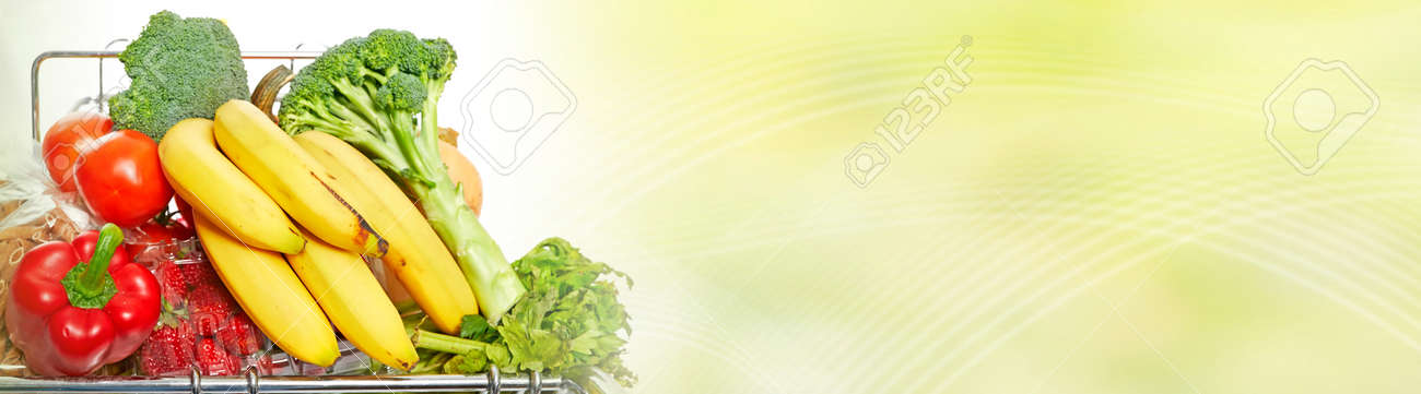 Fresh Organic Vegetarian Healthy Food Banner Background Stock Photo Picture And Royalty Free Image Image 85766965