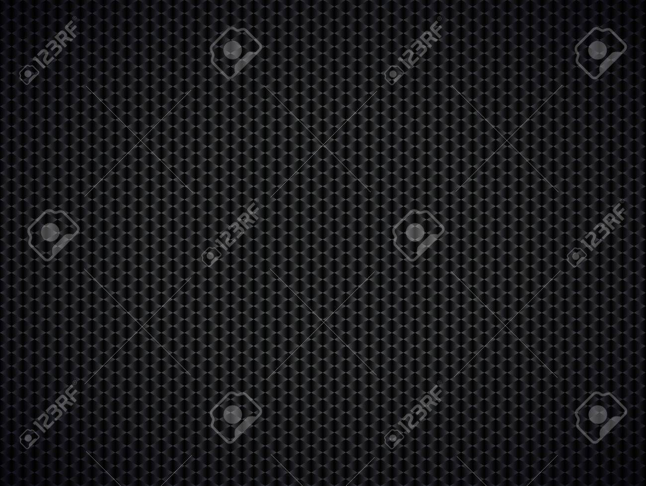 Abstract Metallic Black Background Illustration Stock Vector