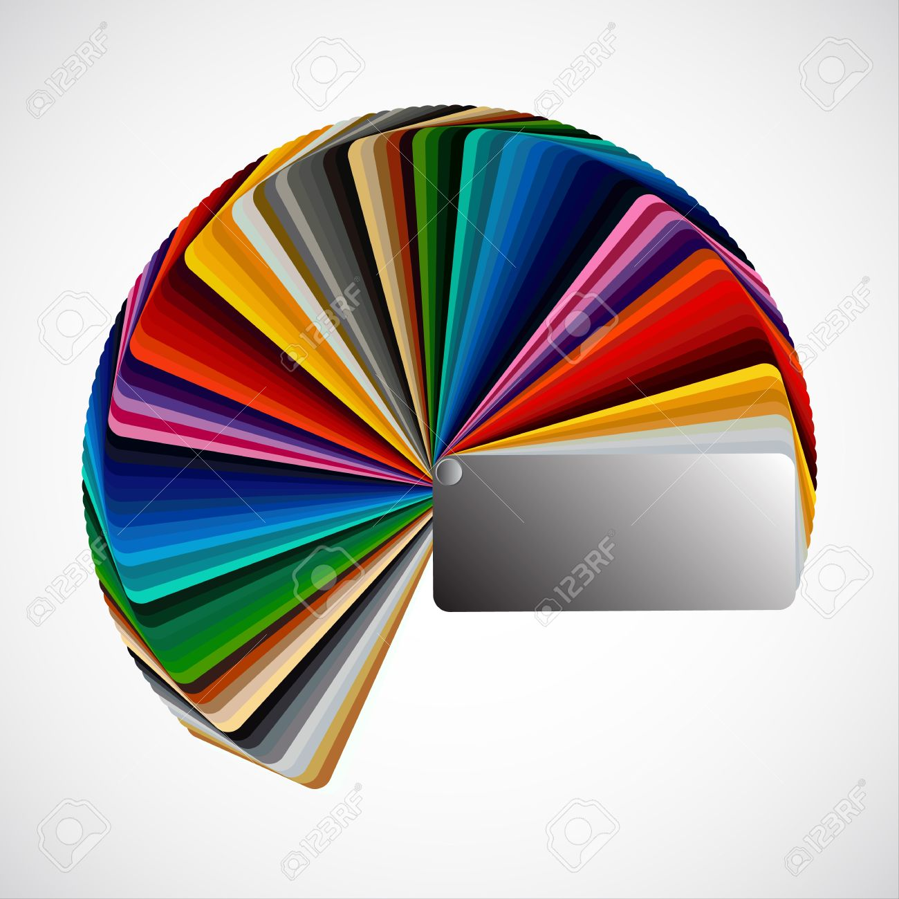 Color palette isolated on white background, color vector samples Stock Vector - 18520037