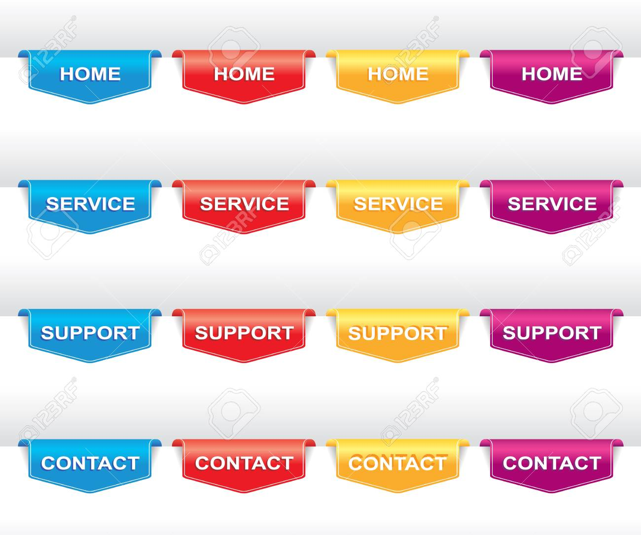 Color set of navigation labels for your design or web site  banners, tags and ribbons Stock Vector - 18520039