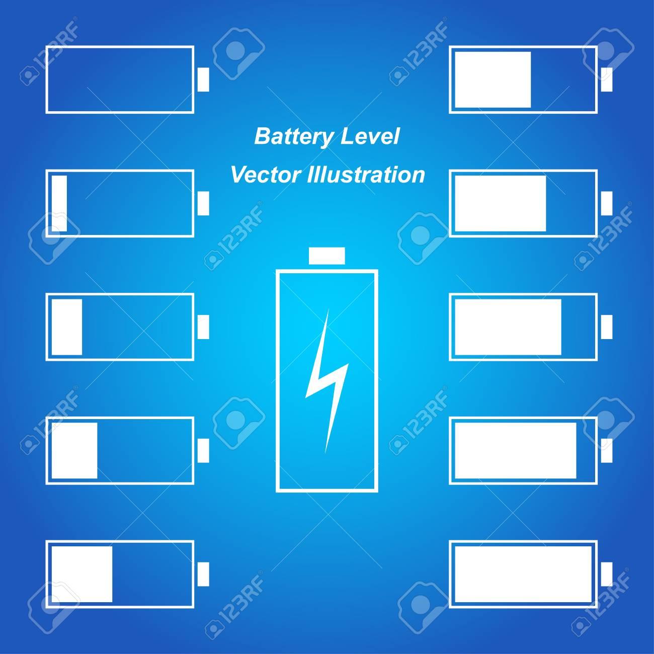 Simple blue battery level vector illustration Stock Vector - 20295729