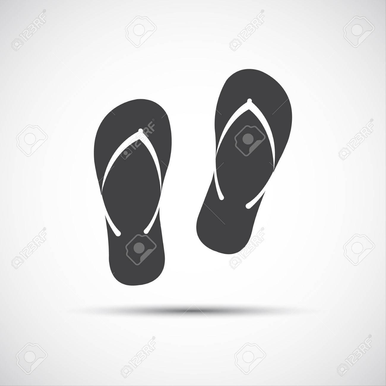 d6d51e0e4922f Simple Beach Flip Flops Icons