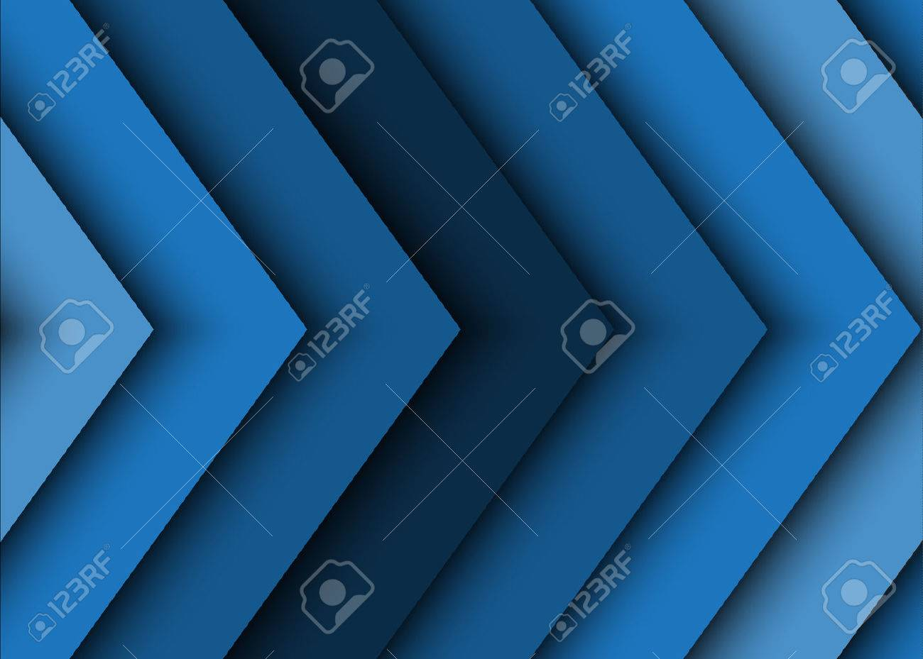 Blue abstract background of arrows - 56411743