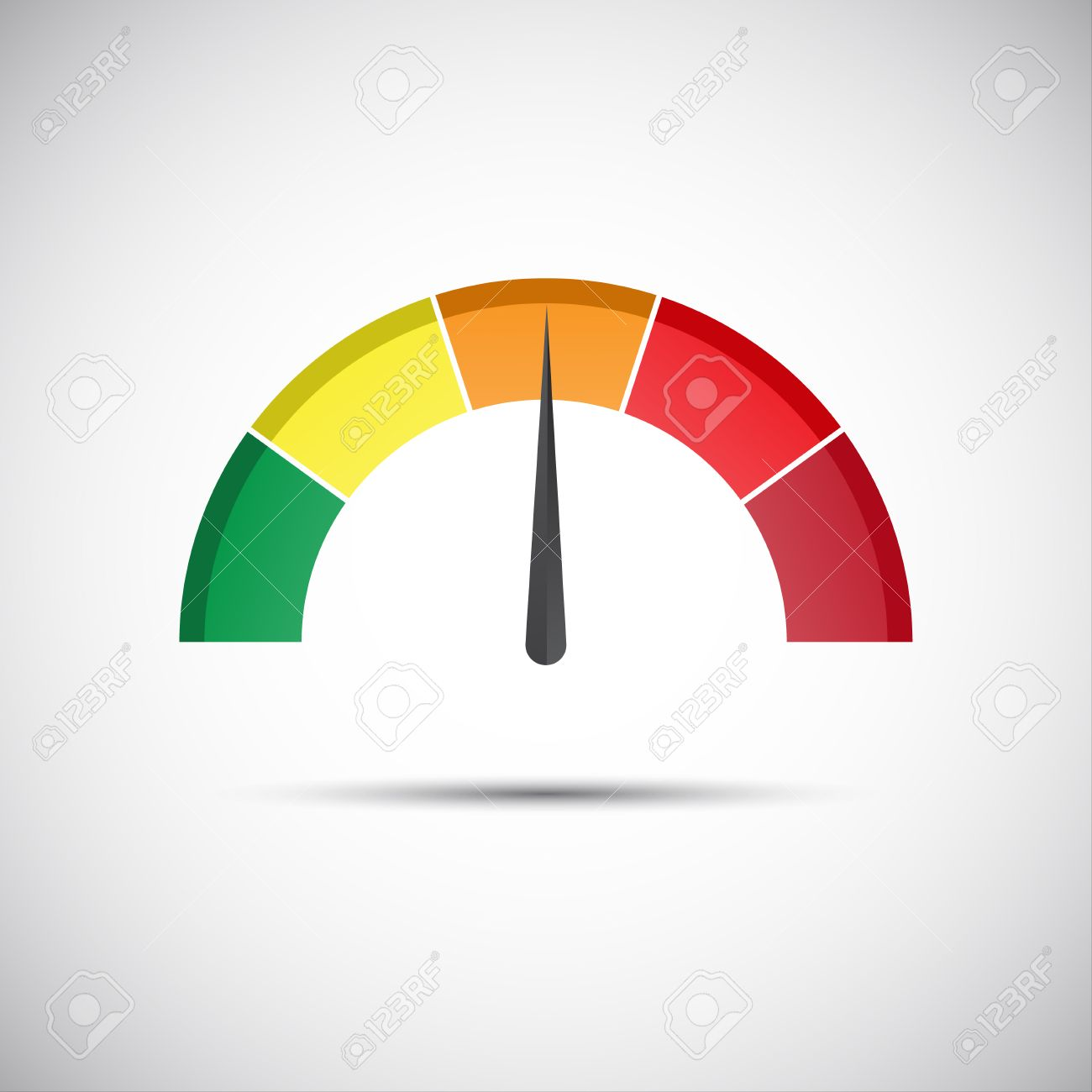 Color Tachometer, Flow Meter With Indicator In Orange Part, Speed ...