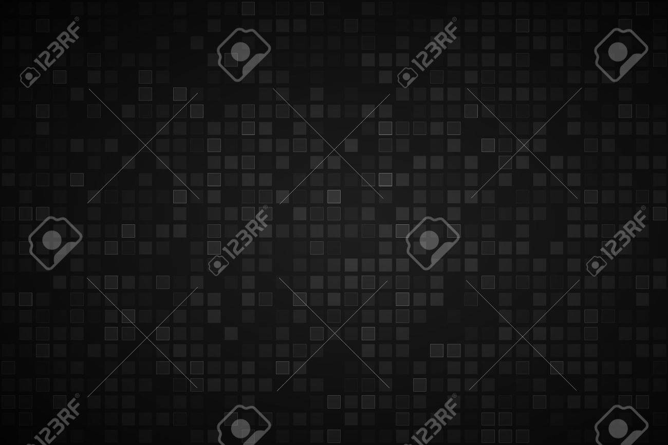 Black abstract background with transparent squares, vector illustration - 63290040