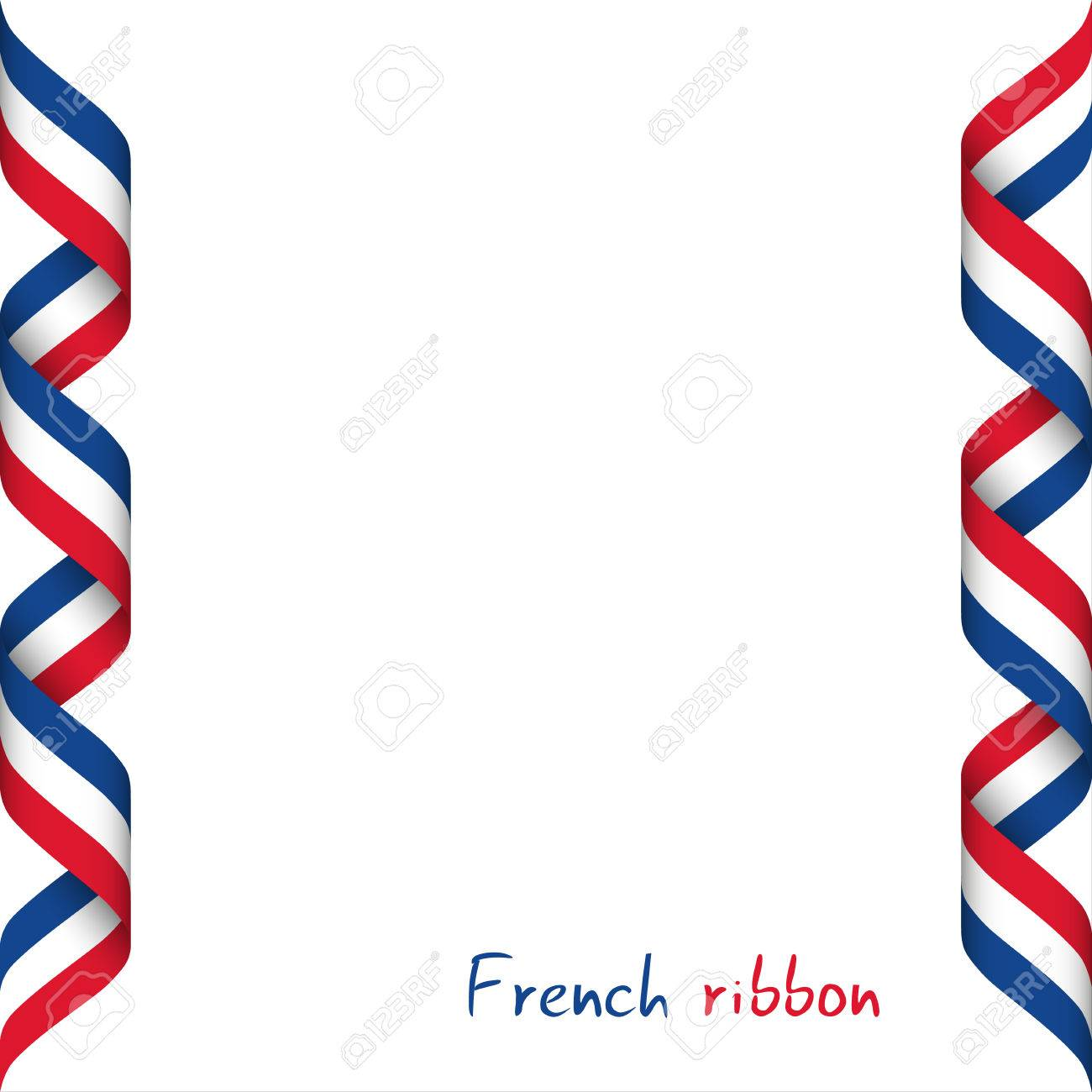 Colored ribbon with the french tricolor symbol of the french colored ribbon with the french tricolor symbol of the french flag isolated on white background biocorpaavc Gallery