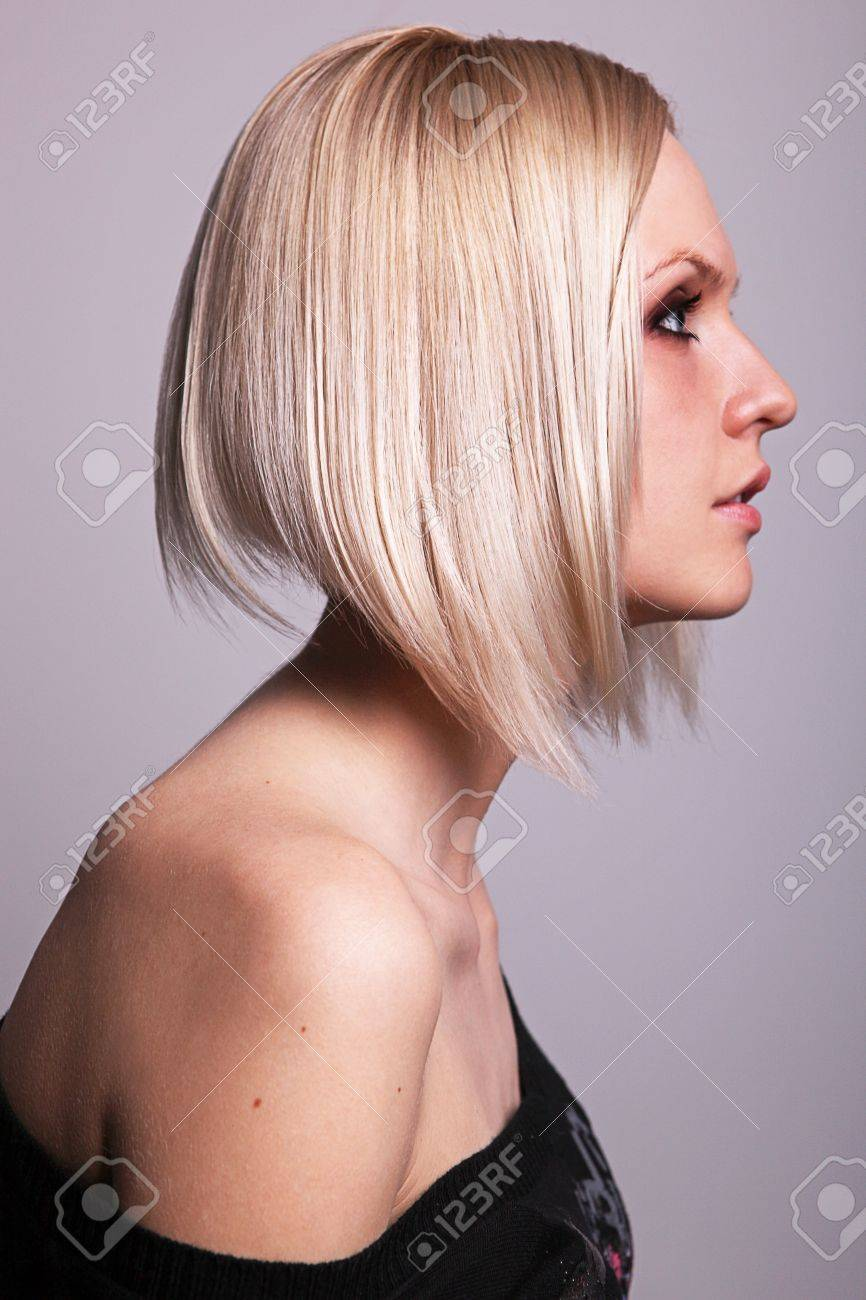 Pretty young blond girl in profile Stock Photo - 9766466