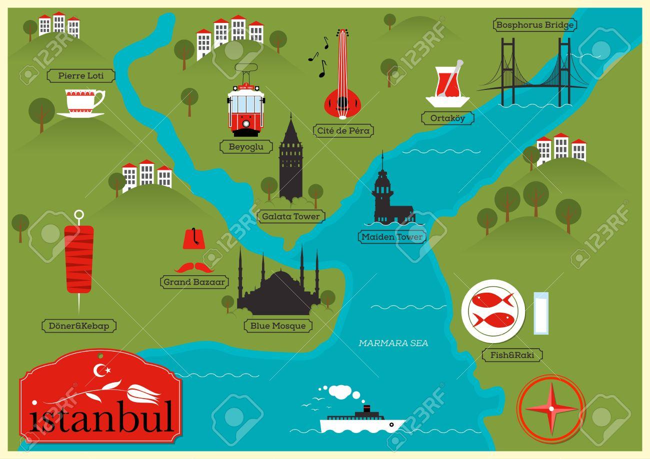 City Map of Istanbul, Turkey