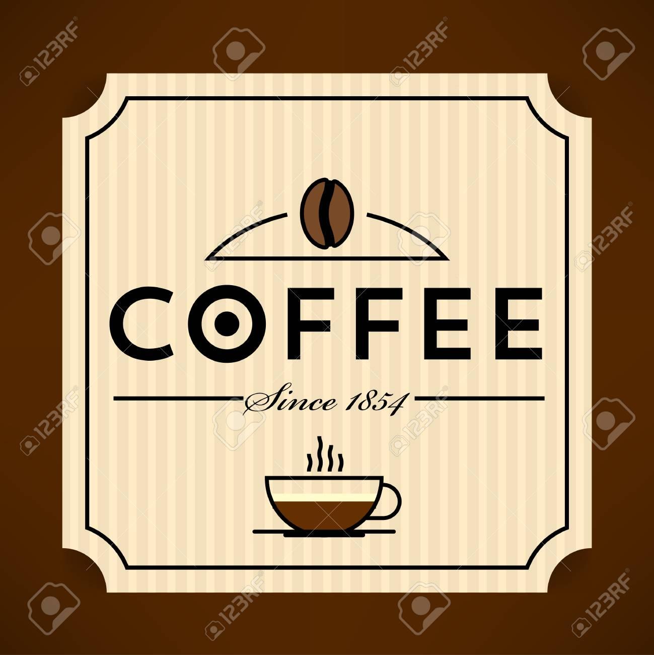 trendy vector coffee label template royalty free cliparts vectors