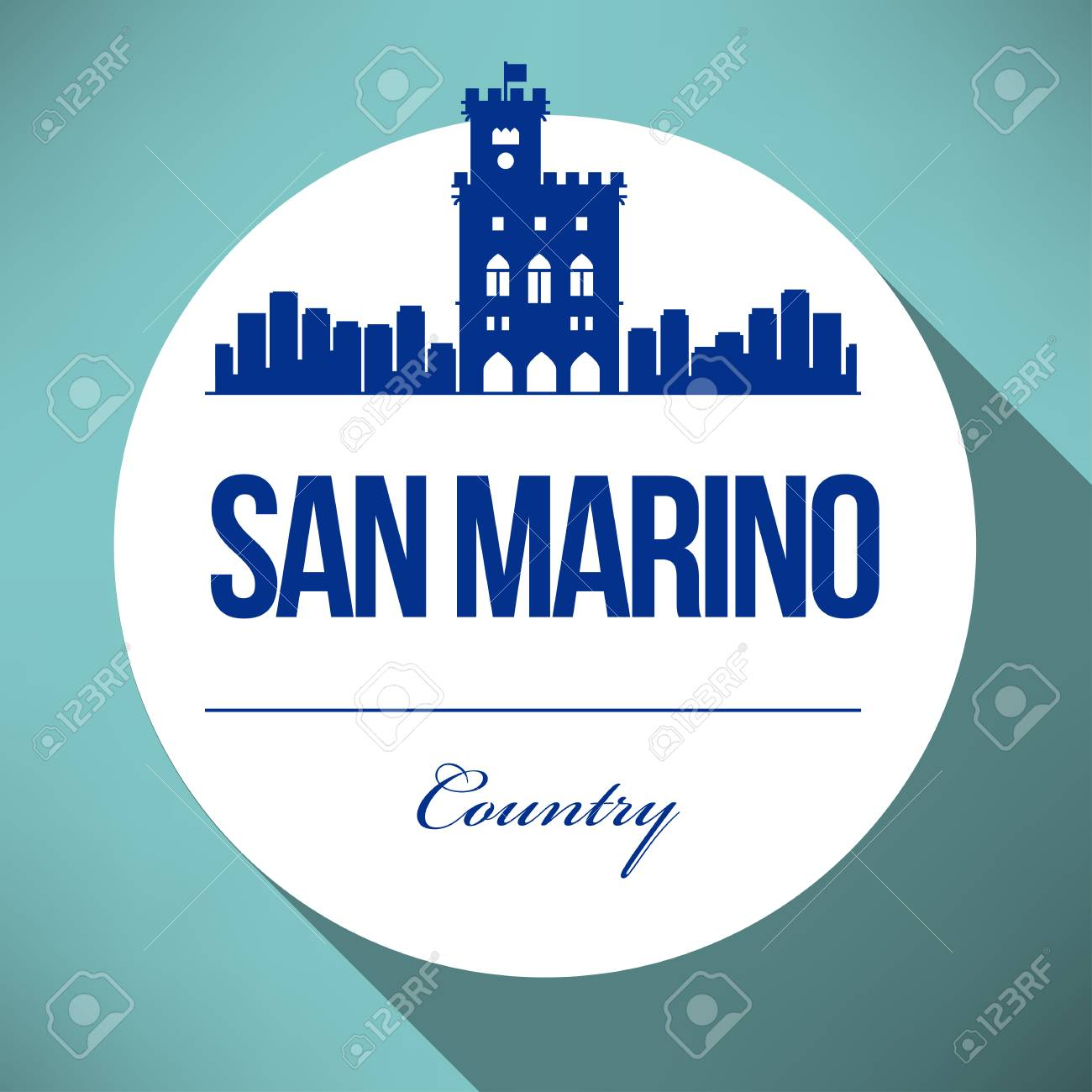 Vector Graphic Design Of San Marino City Skyline Royalty Free ...