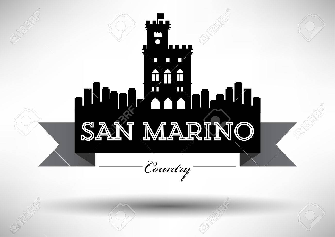 Vector Graphic Design Of San Marino City Skyline Royalty Free ...