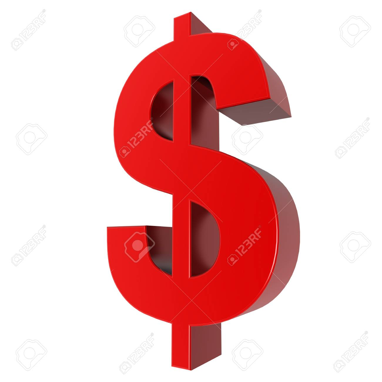 3d sign collection - dollar Stock Photo - 23525310