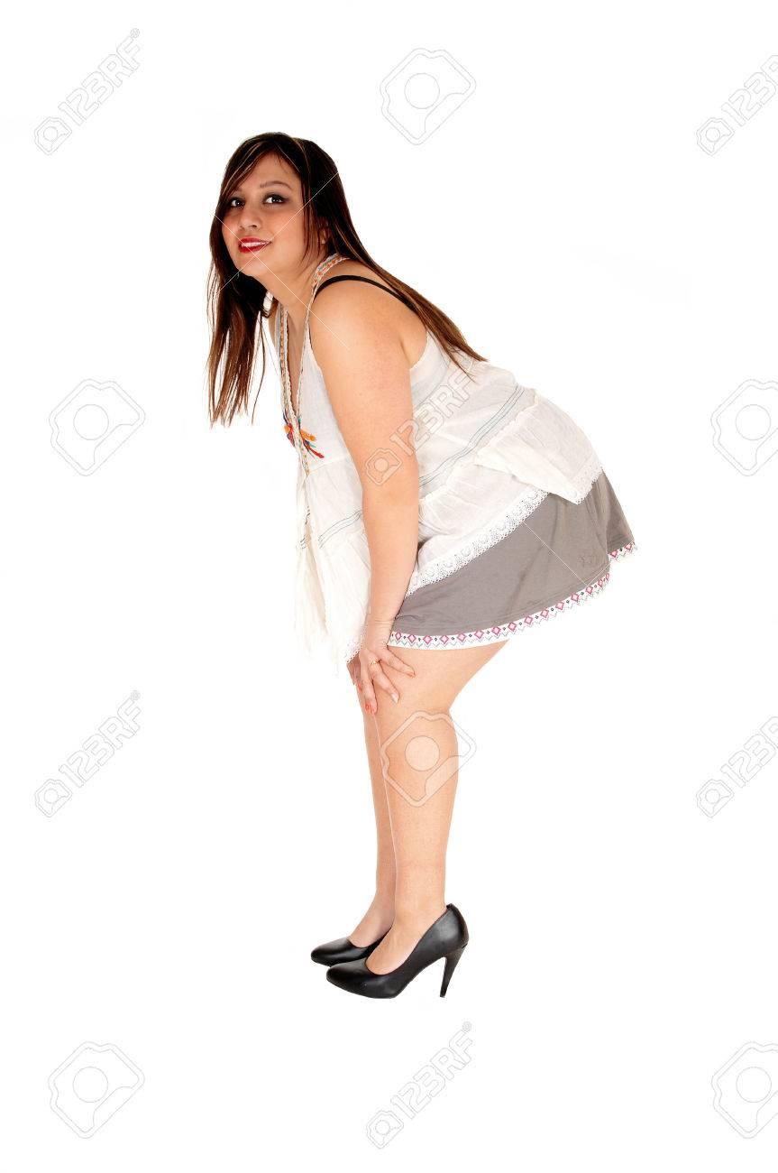frauen in kurze rocke, high heels
