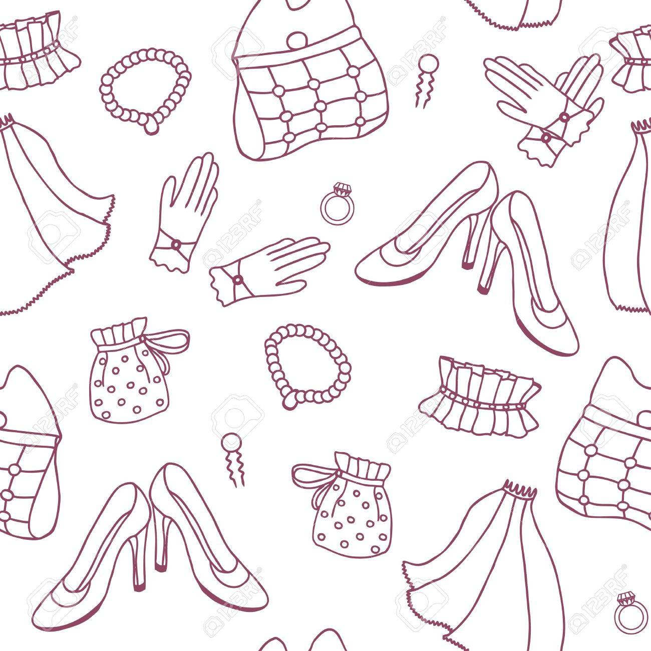 Wedding seamless pattern in simple style Stock Vector - 12490144