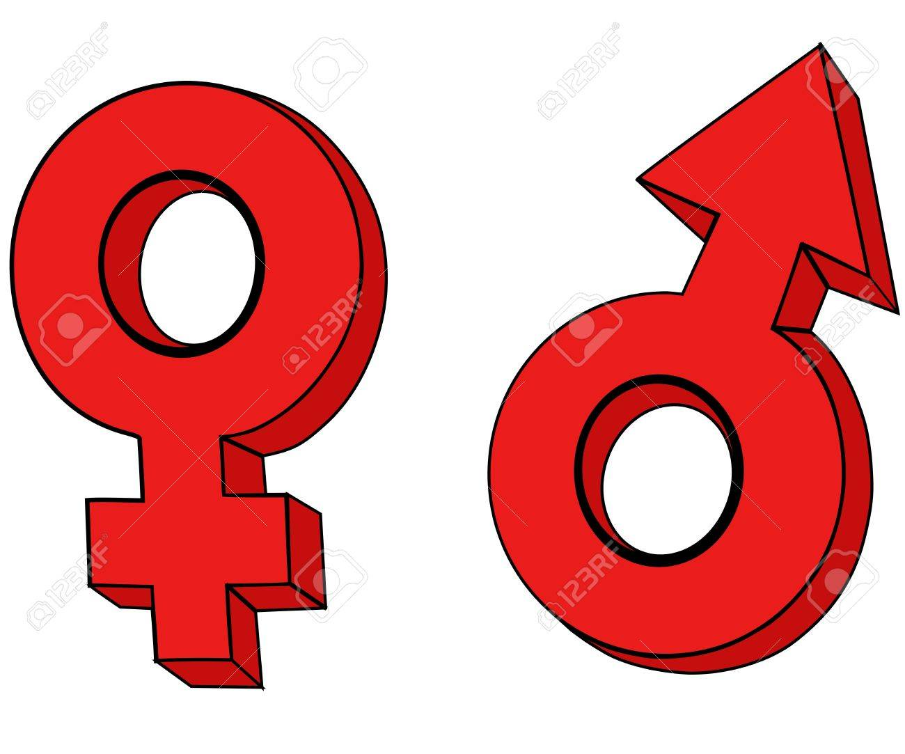 Male Female Gender Symbols Royalty Free Cliparts Vectors And Stock
