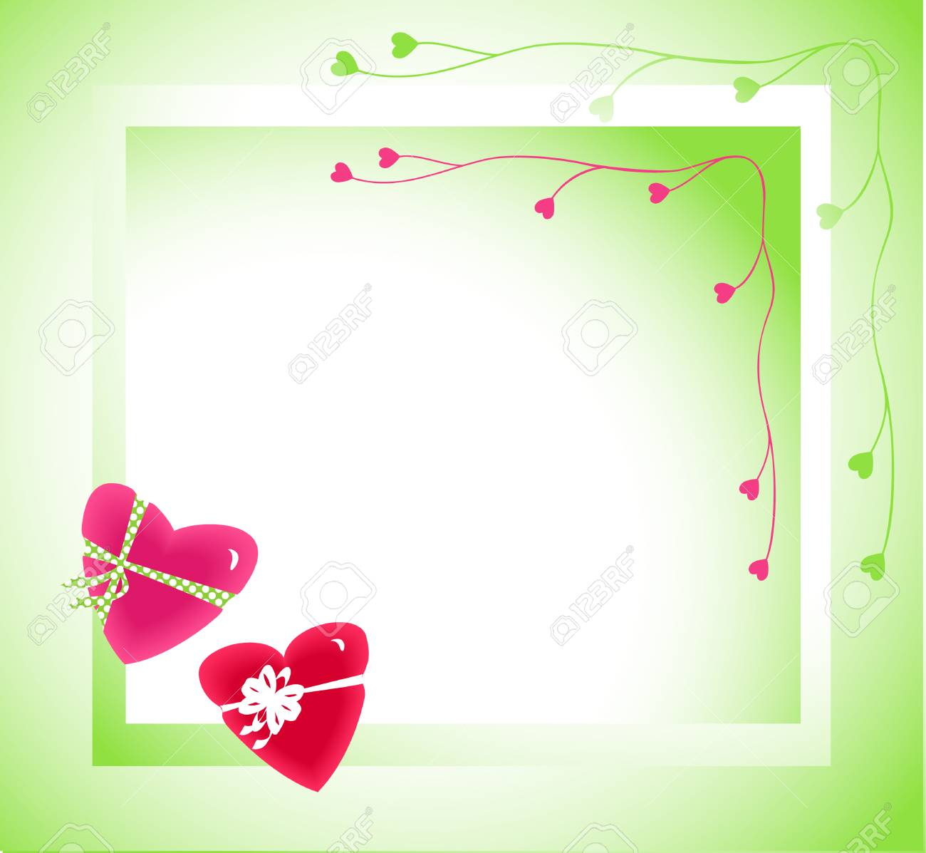 Background for a card to the Valentine's day Stock Vector - 2357831