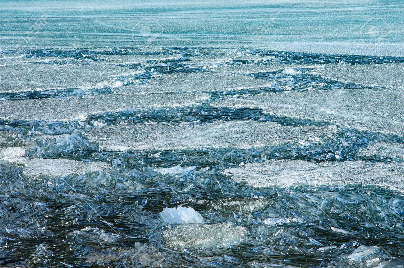 Pattern Of Summer Ice And Snow Melt Water Pool On Ice Of The Stock Photo Picture And Royalty Free Image Image 94283399