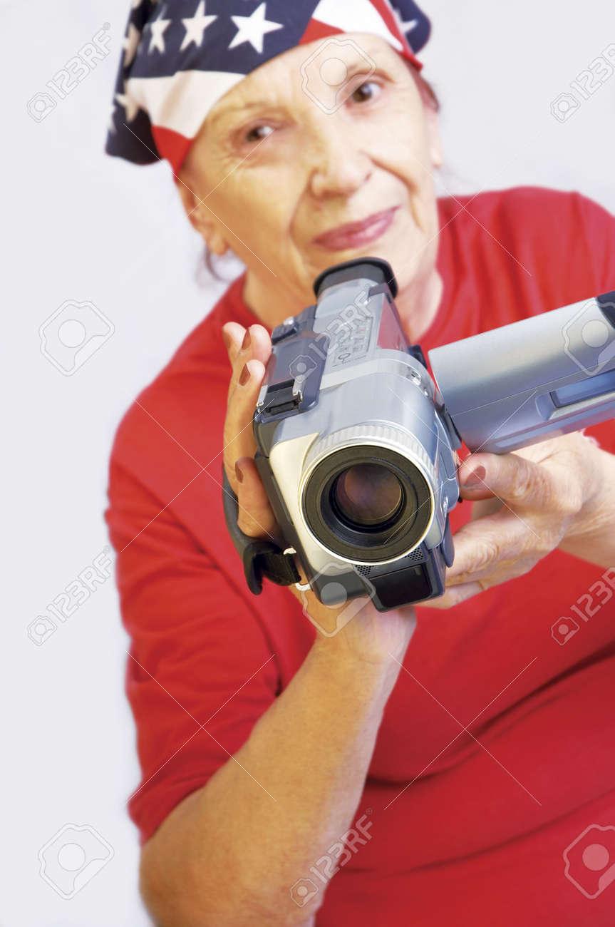 grandmama speaking on the mobile phone Stock Photo - 227252