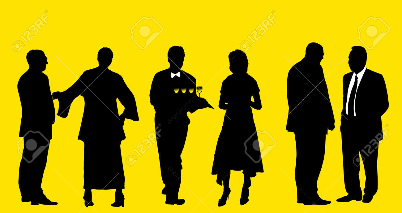Silhouette of people Stock Photo - 346170