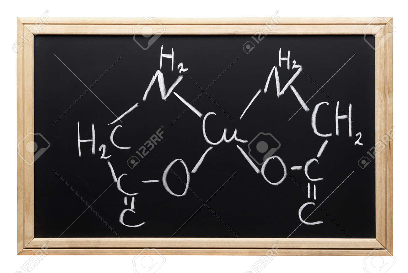 chemical formula (blackboard with clipping path,focus point on the center of the photo) Stock Photo - 824644