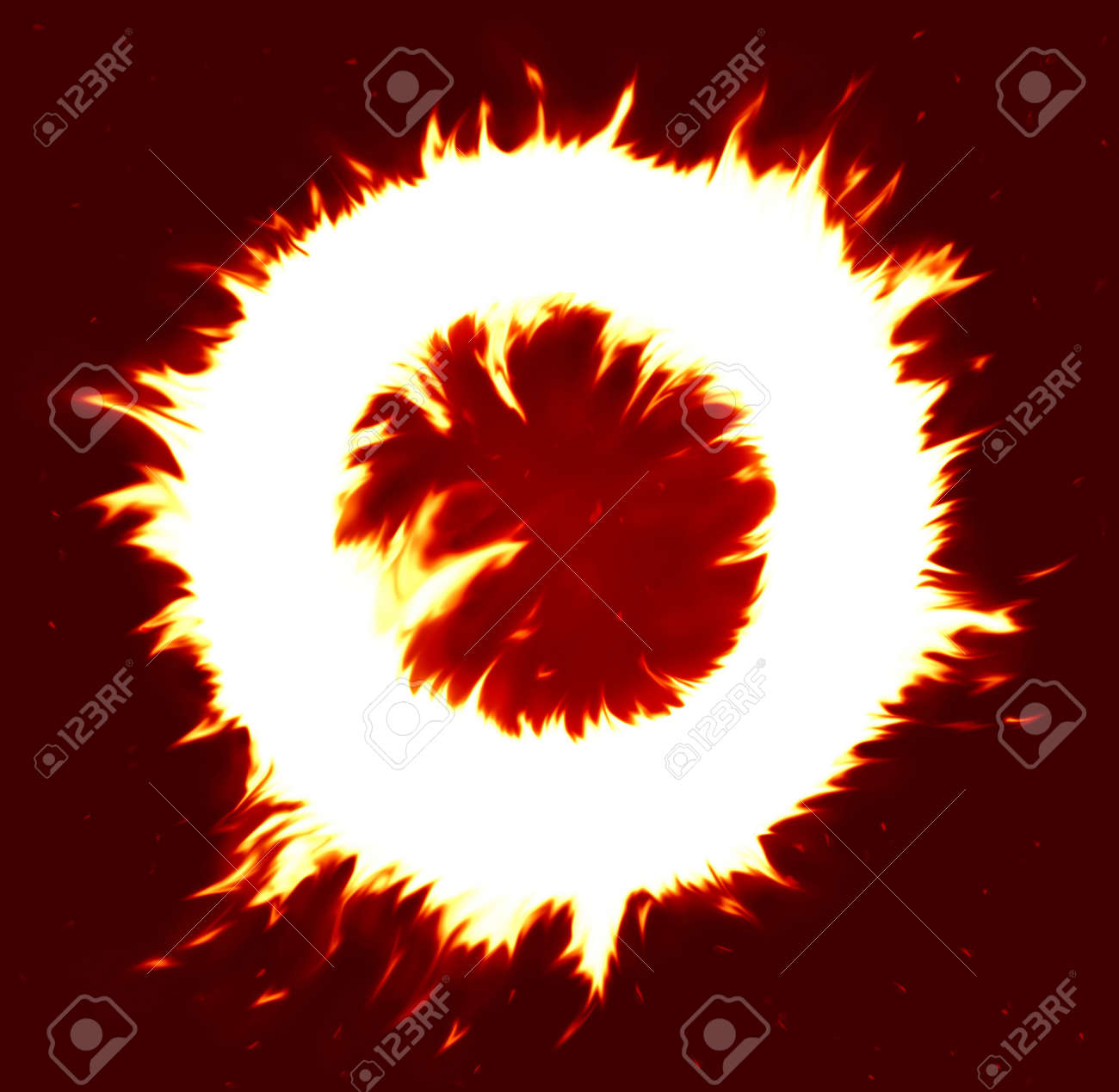 fire circle (special f/x made in P/S, place your text on white area) Stock Photo - 872883