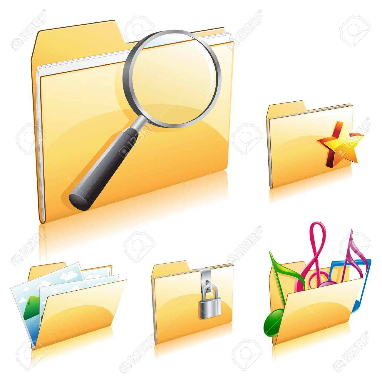 Folder Icon Set 2 Stock Vector - 9155589